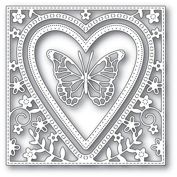 Memory Box Butterfly Heart Frame 94110