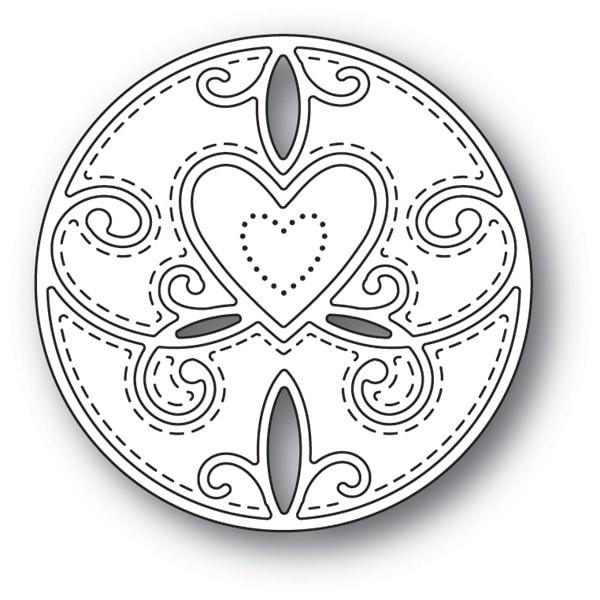 Memory Box Scroll Heart Circle 94111