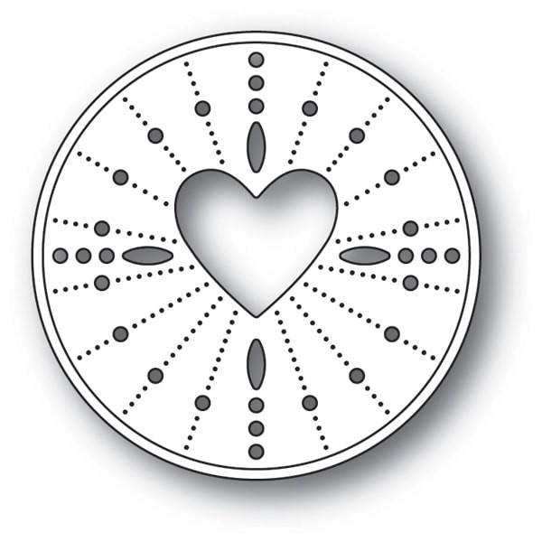Memory Box Pinpoint Heart Circle 99123