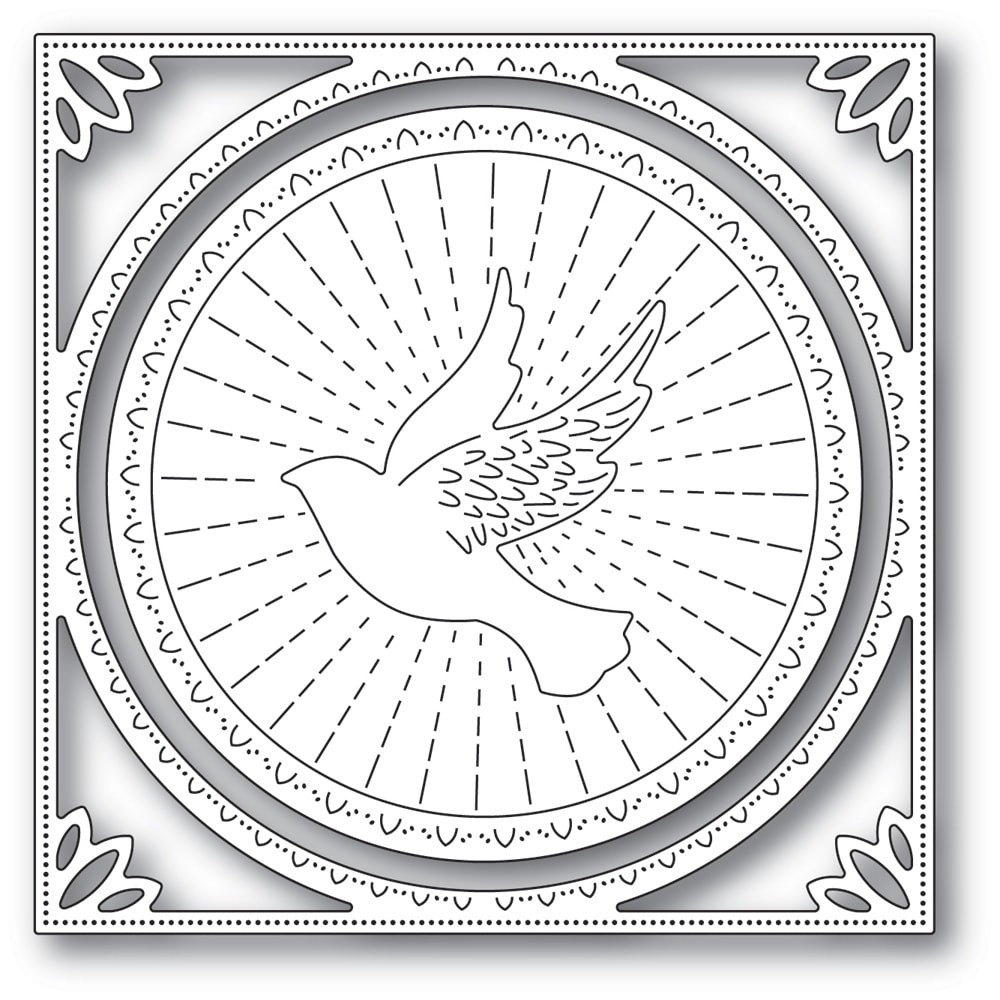 SALE - Memory Box Shining Dove Frame die 94292