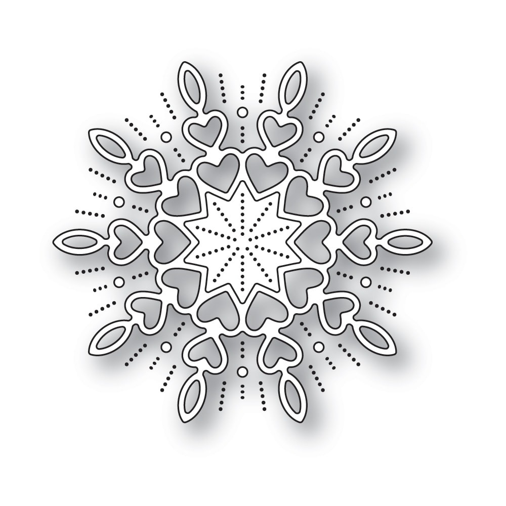 Memory Box Holiday Heart Snowflake Die 94315