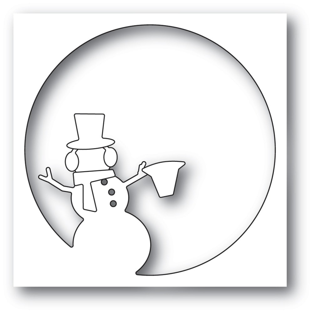 Memory Box Snowman Circle Collage 94330