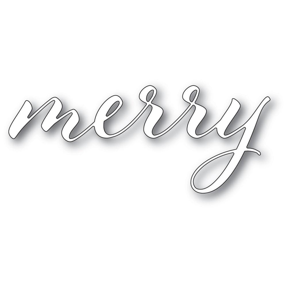 Memory Box Merry Airy Script 94331