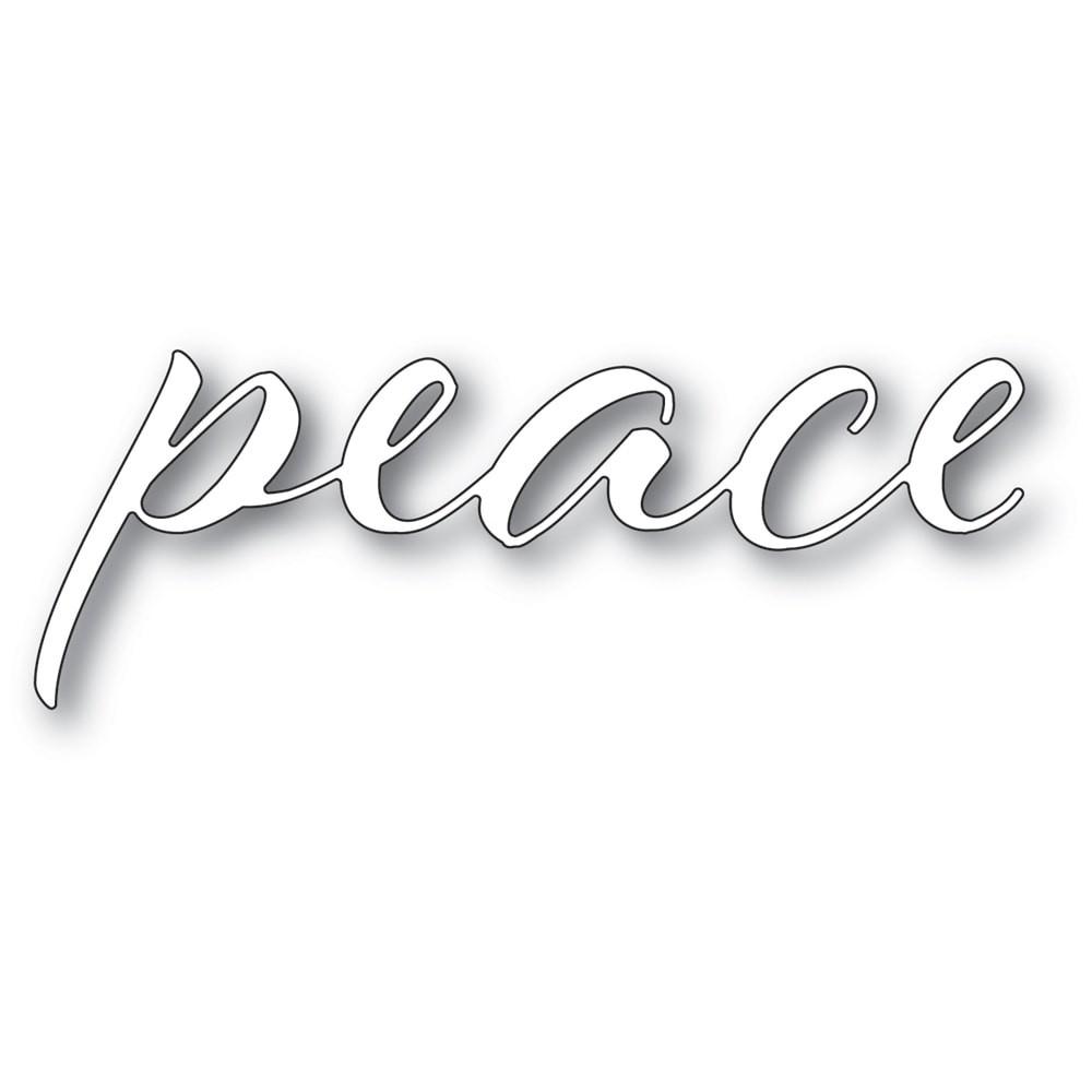 Memory Box Peace Airy Script 94335