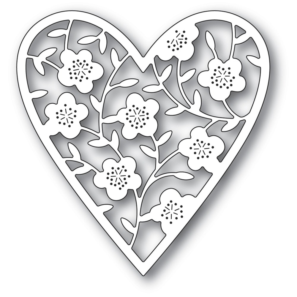 Memory Box 94368 Floral Bouquet Heart craft die