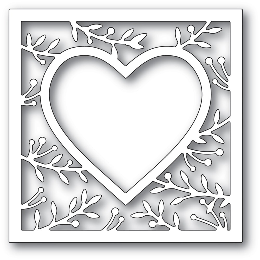 Memory Box 94370 Lavonia Heart Frame craft die