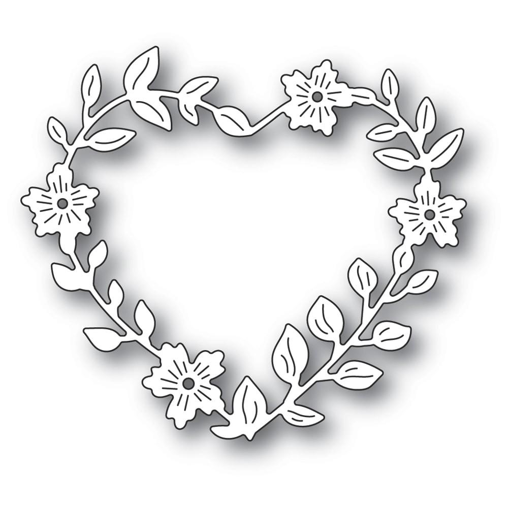 Memory Box Blooming Heart Wreath craft die 94371