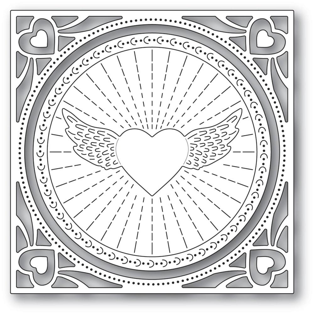 Memory Box Winged Heart Frame craft die 94372
