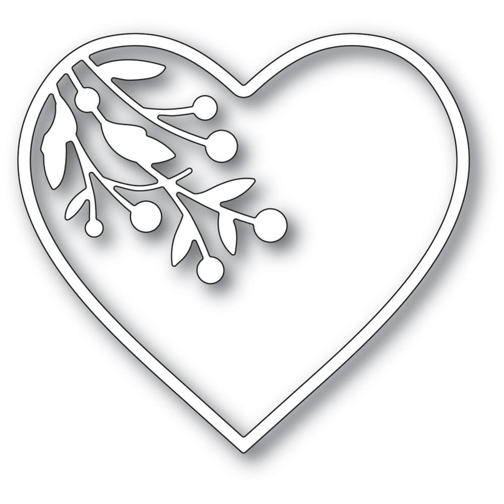 Memory Box Berry Branch Loving Heart craft die 94373
