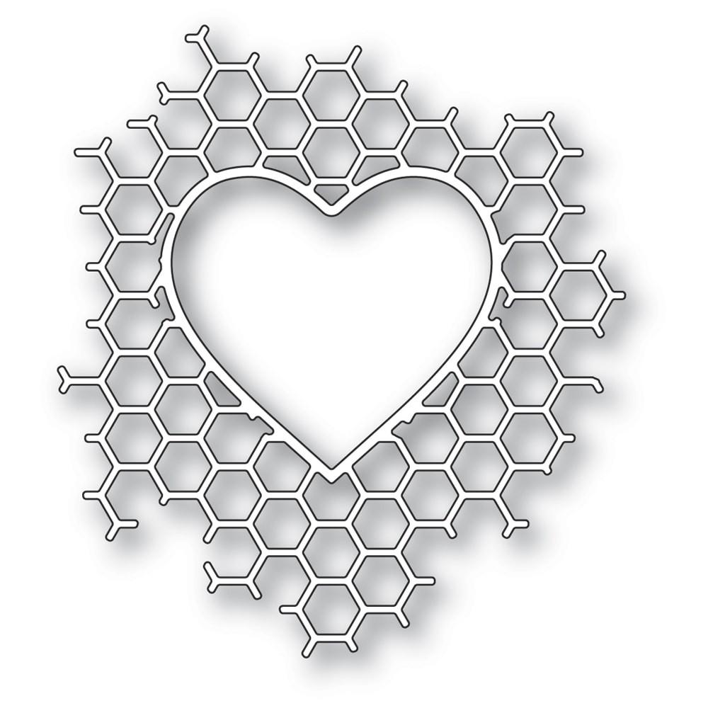 Memory Box Honeycomb Heart craft die 94378
