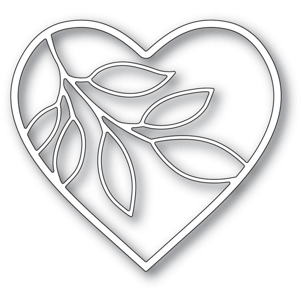 Memory Box Verdant Leaf Loving Heart craft die 94379