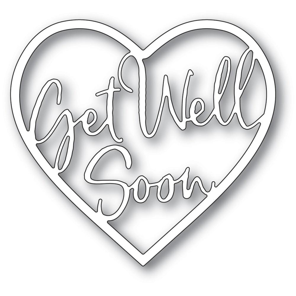 Memory Box  Get Well Soon Loving Heart craft die 94380