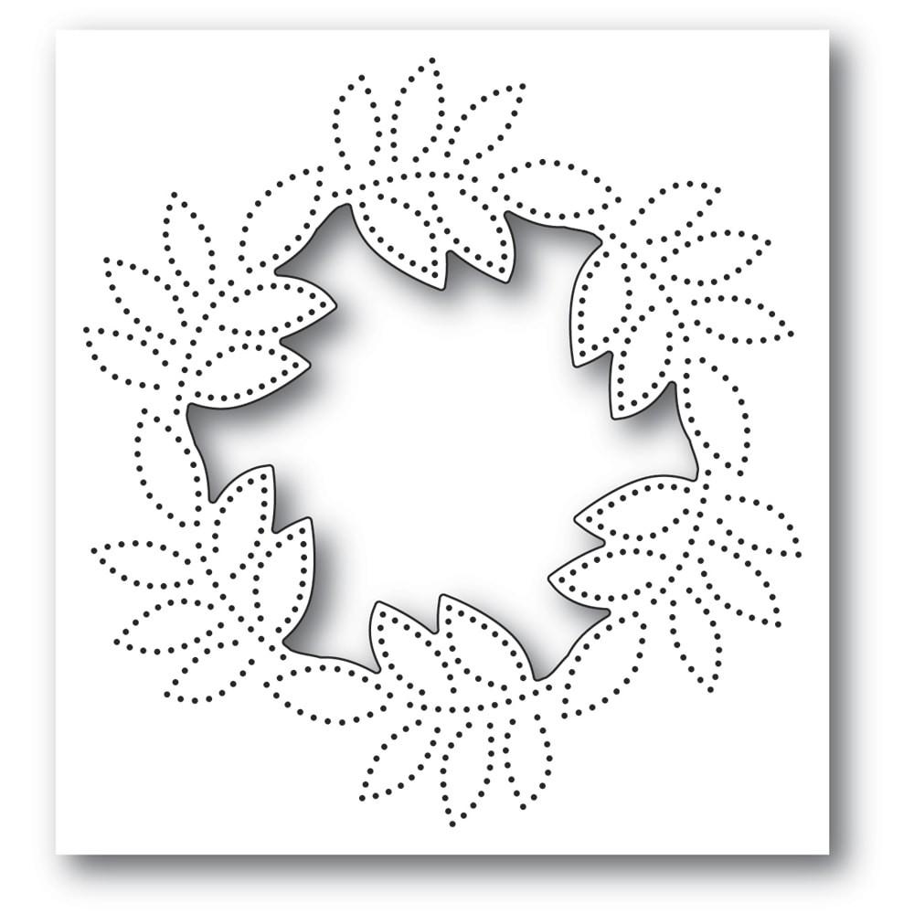 Memory Box Pinpoint Leaf Circle Collage craft die 94384