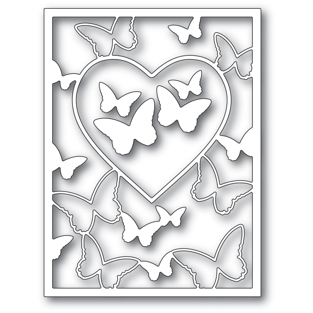 Memory Box Butterfly Heart Frame craft die 94386