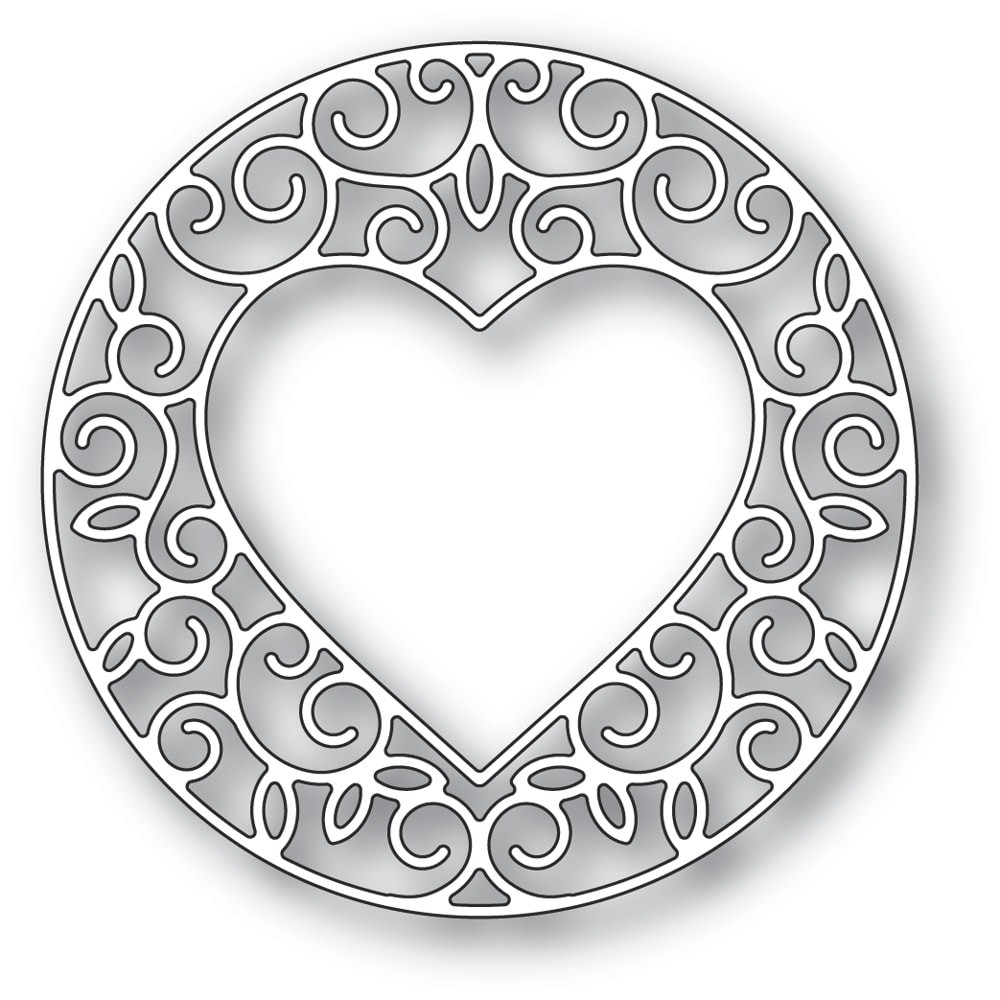 Memory Box Gilded Heart Circle craft die 94388