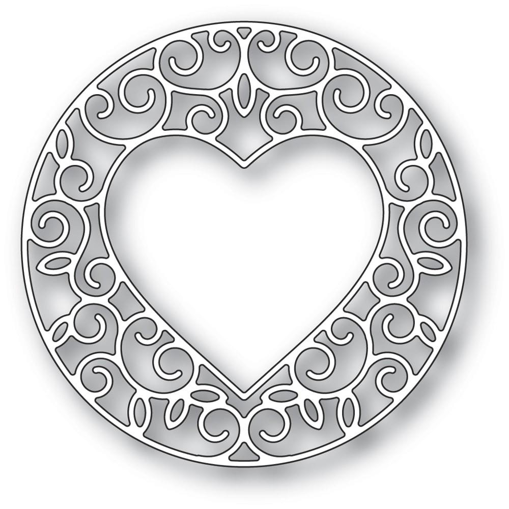 Memory Box Gilded Heart Circle 94388