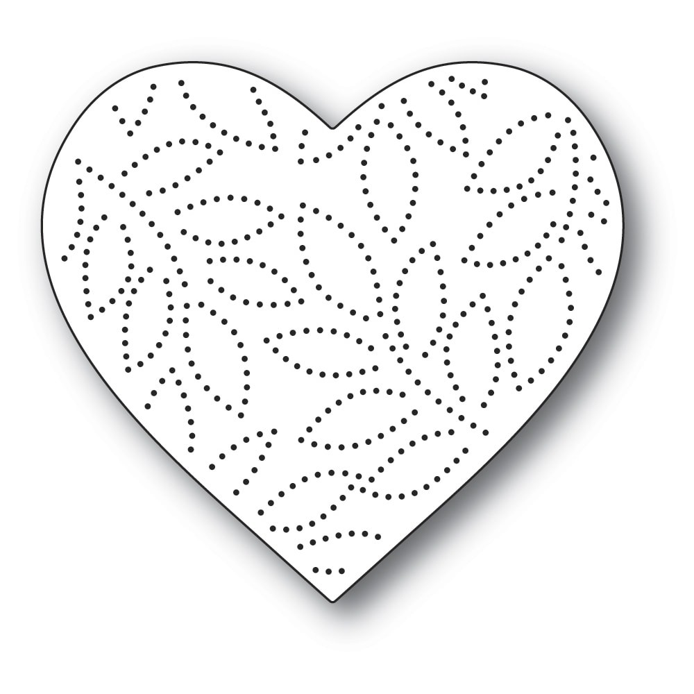 Memory Box Pinpoint Leaf Heart 94390