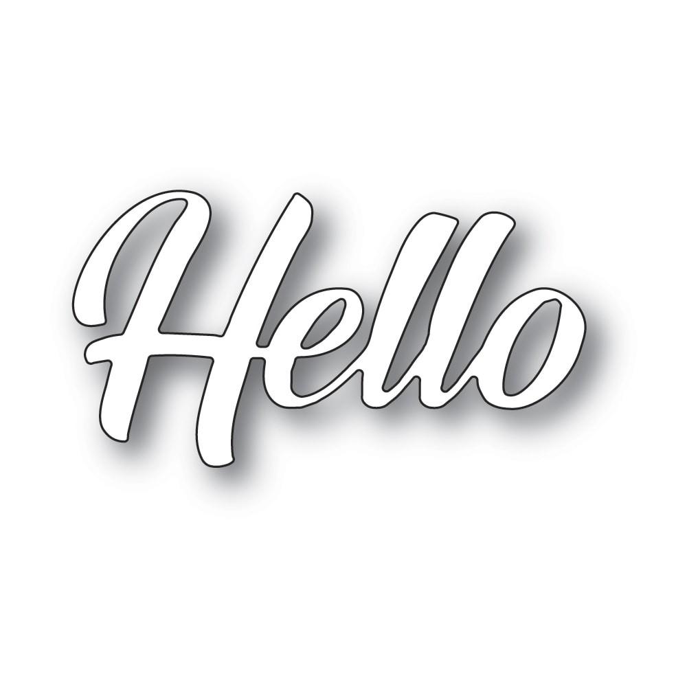 Memory Box Hello Banner Script 94392