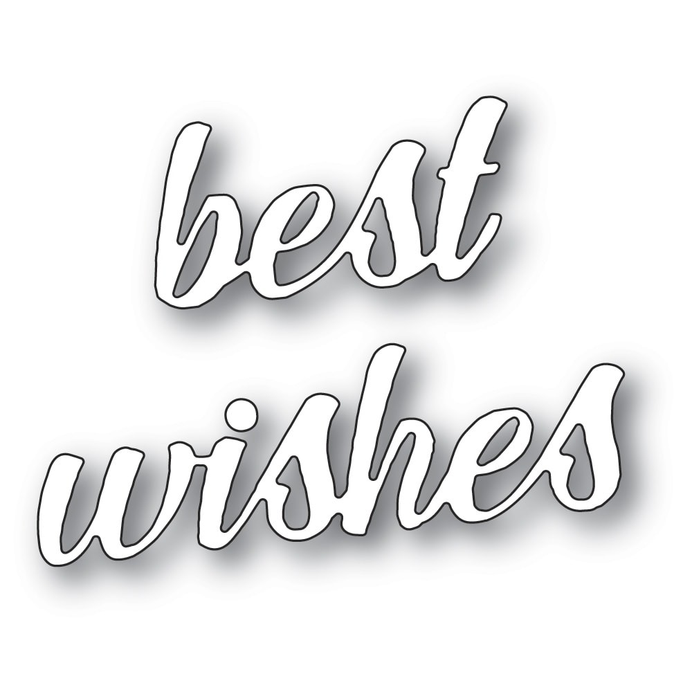 Memory Box Best Wishes Banner Script 94394
