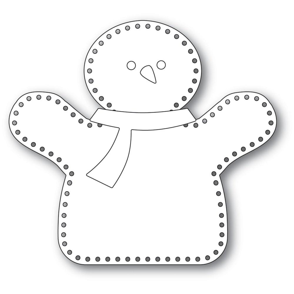 Memory Box Plush Hugging Snowman  94402