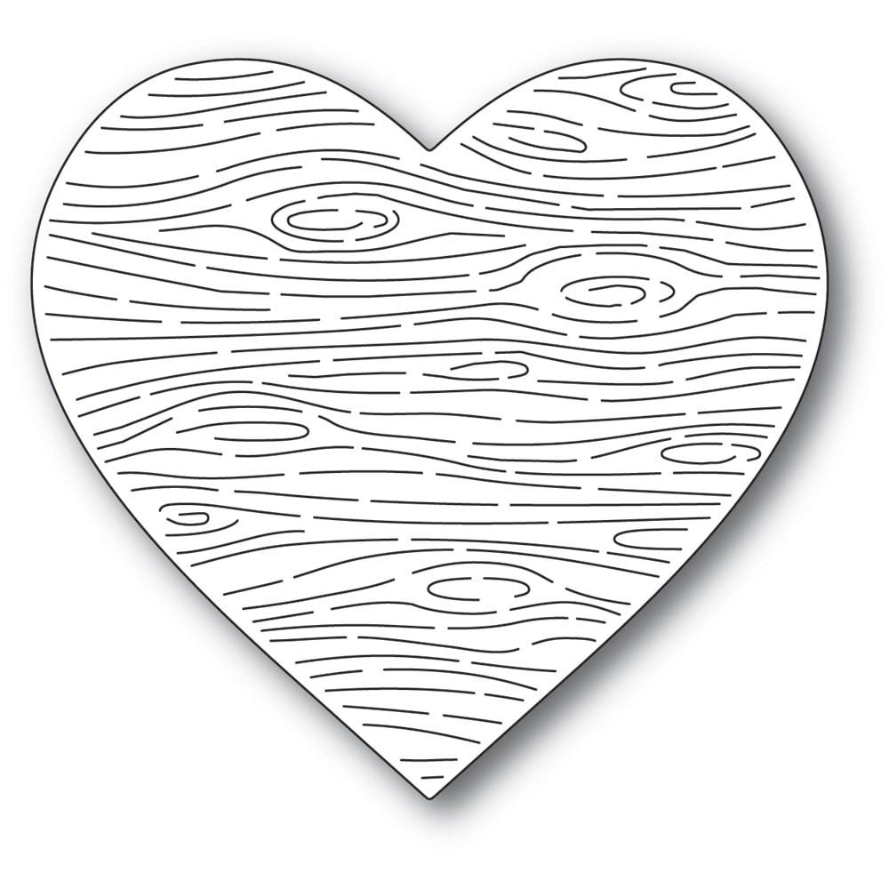Memory Box Woodgrain Heart 94552