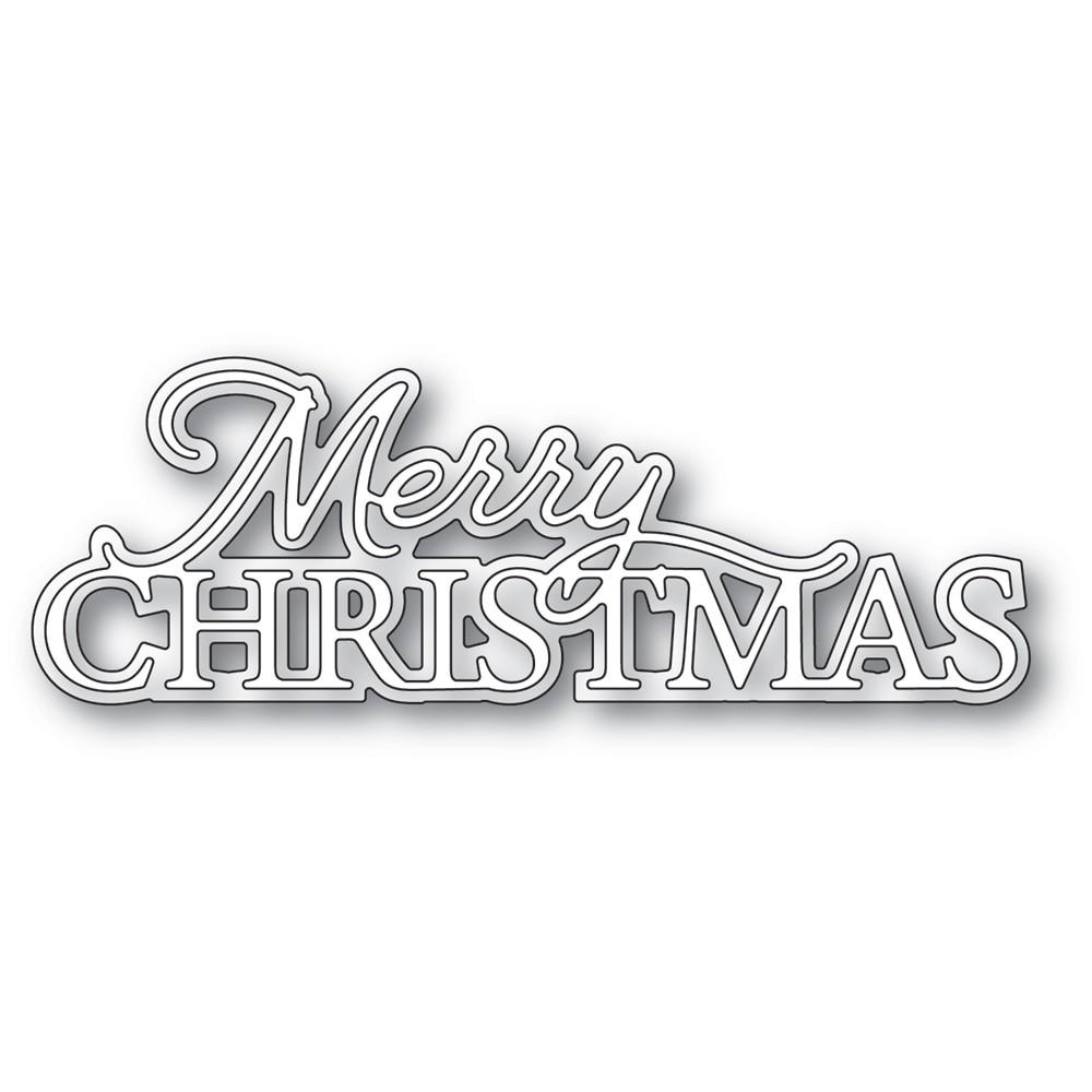 Memory Box Merry Christmas Posh Script 94584