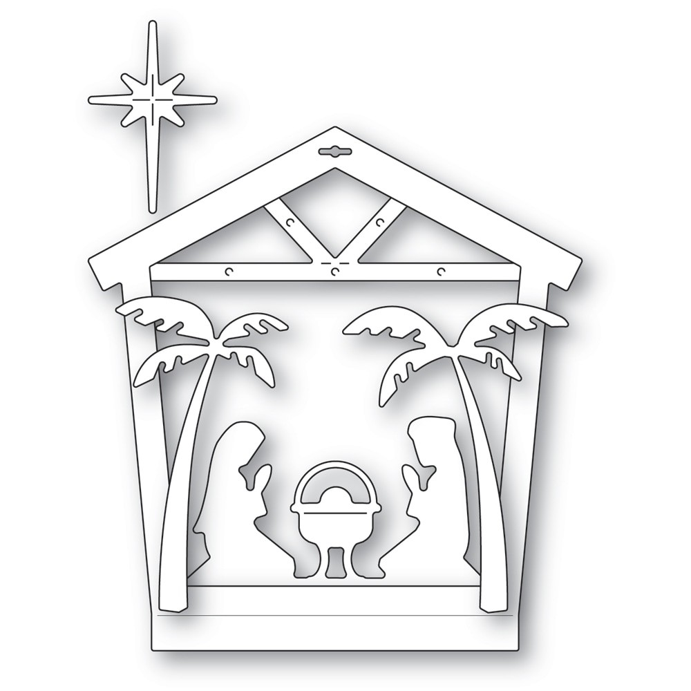 Memory Box Nativity House Frame 94602