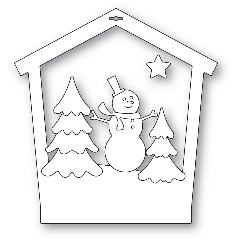 Memory Box Snowman House Frame 94604