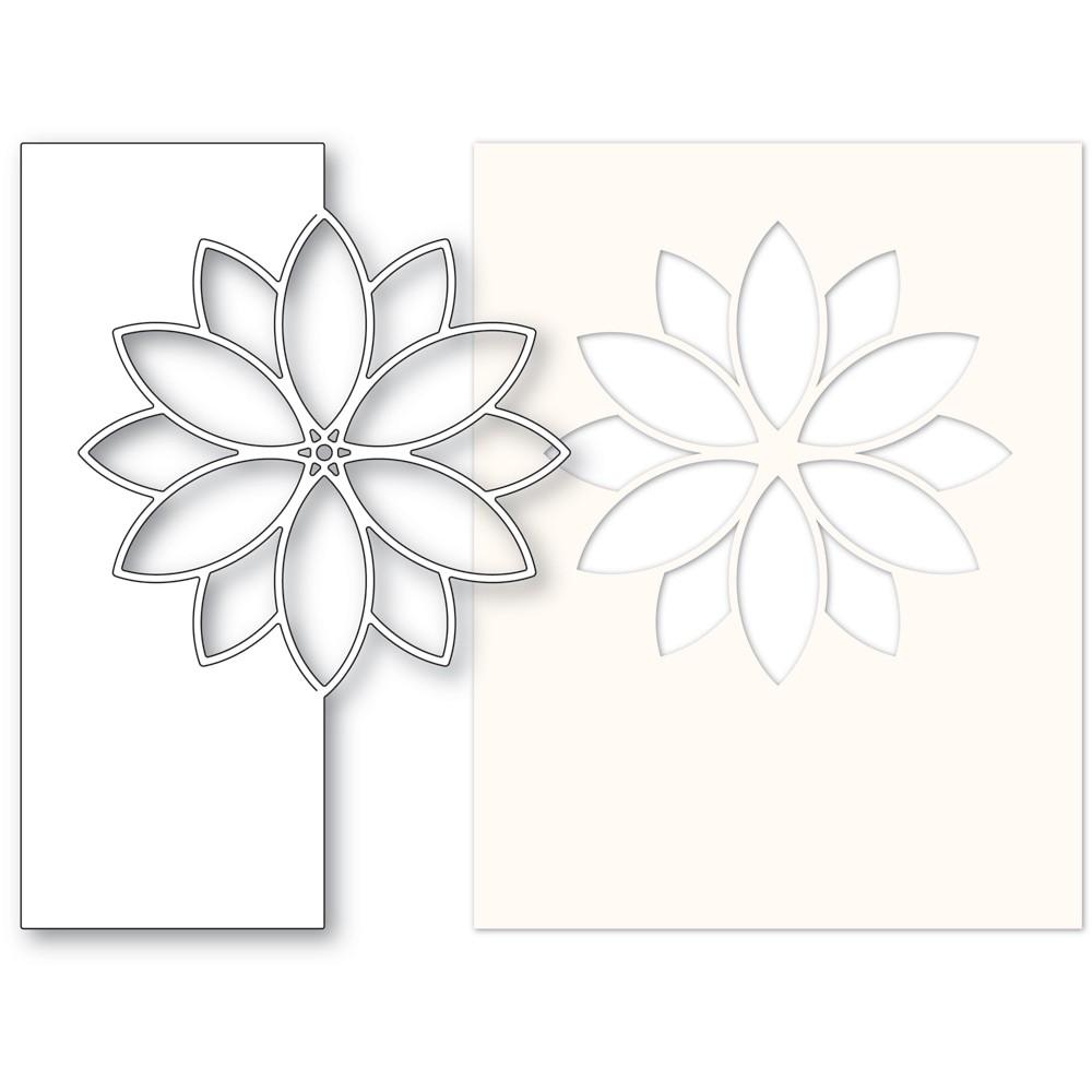 Memory Box Contempo Poinsettia and Stencil 94607