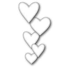 sale - Memory Box Classic Stitched Heart Collection 99637