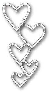 sale - MEmory Box Classic Stitched Heart Rings 99661