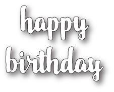 Happy Birthday Upright Script craft die (99684)
