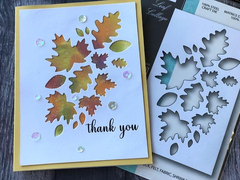 Leaf Collage craft die 99800