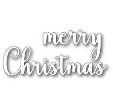 sale - Memory Box Large Sentimental Merry Christmas 99804