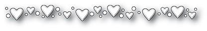 Dibble Heart Border Die 99932