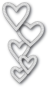 Classic Double Stitched Heart Rings 99938
