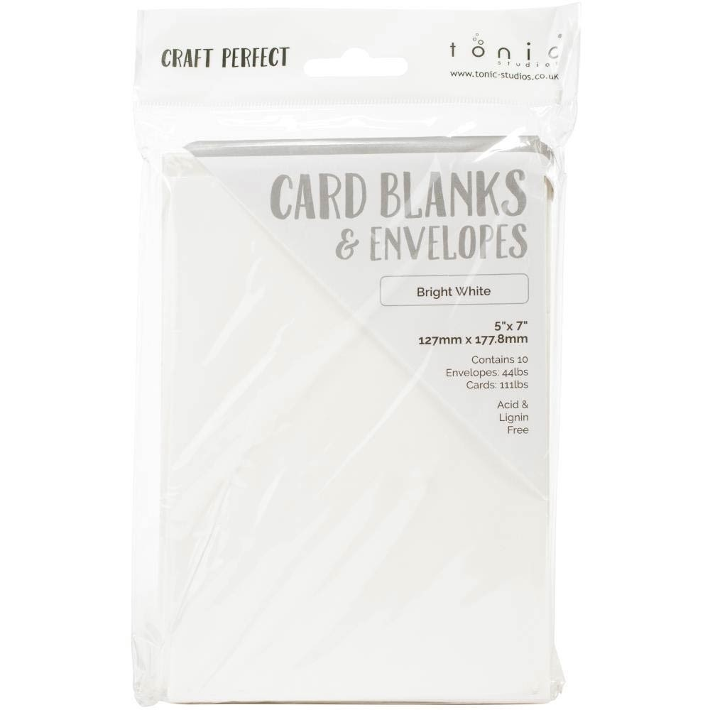 Tonic Card and Envelopes - bright white