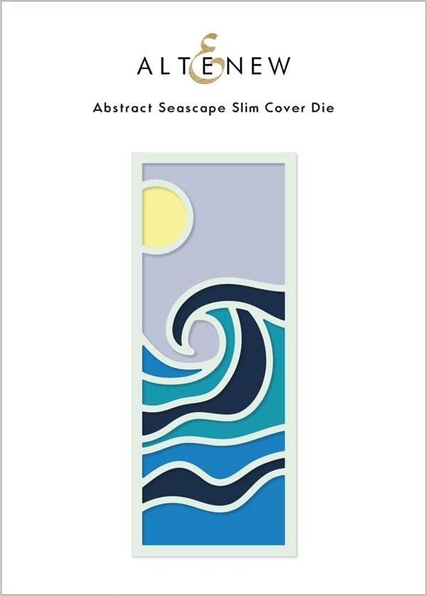 Altenew Abstract Seascape Slim Cover Die