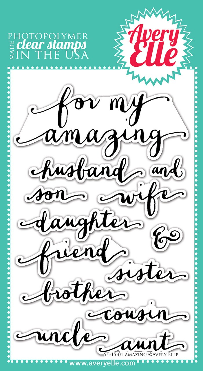 Avery Elle Amazing Clear Stamps