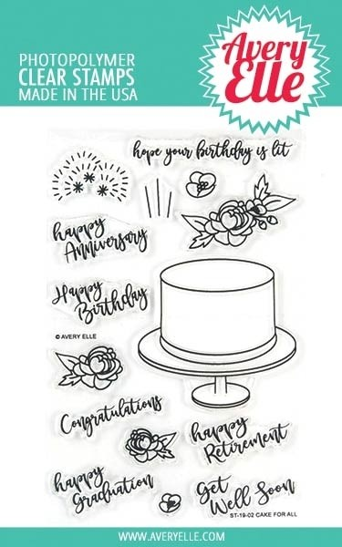 Avery Elle Cake for All Clear Stamp Set