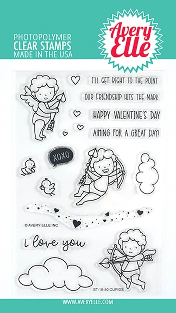 Avery Elle Cupids Clear Stamps