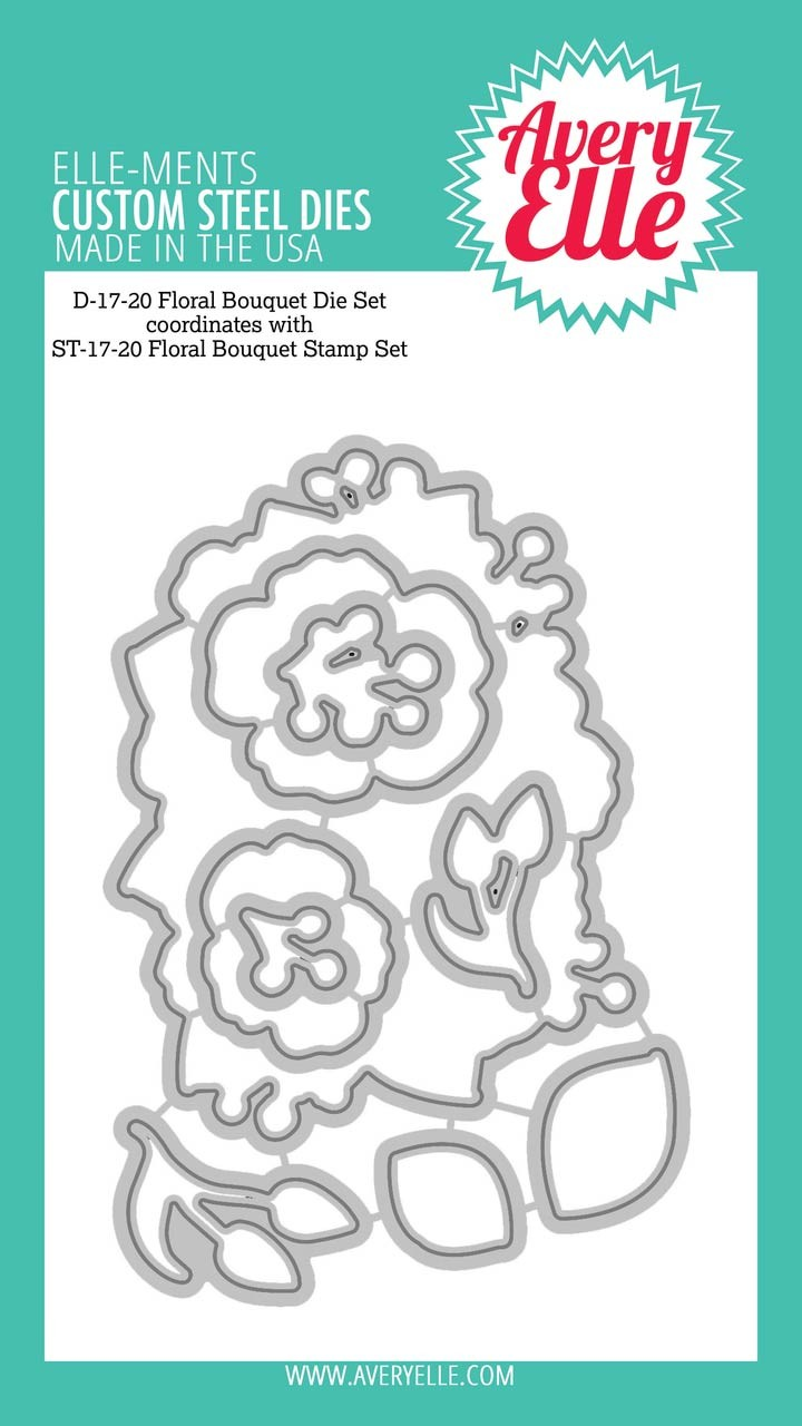 Avery Elle Floral Bouquet Clear Stamp Set