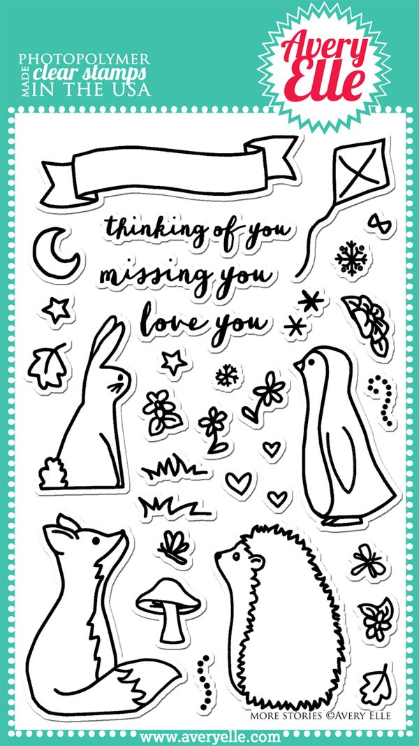 Avery Elle More Stories Clear Stamp set