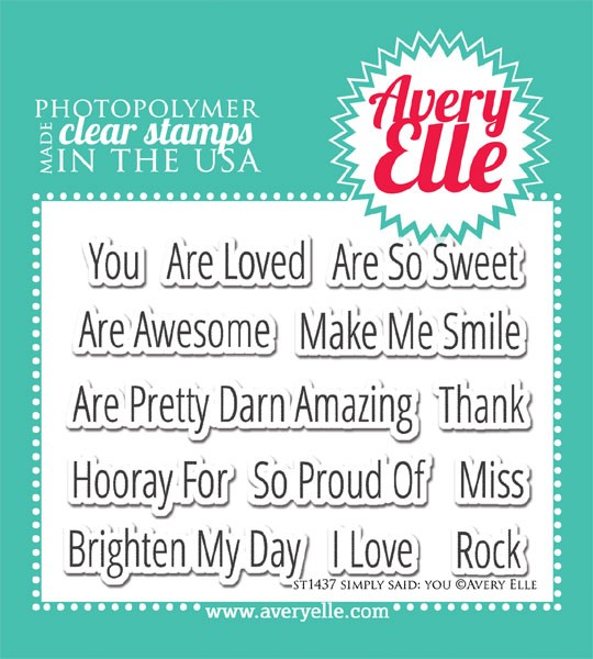 Avery Elle Simply Said You Stamp Set