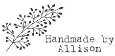 Handmade by Allison with branch Custom Stamp