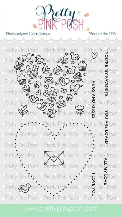 Pretty Pink Posh All My Love Stamp Set