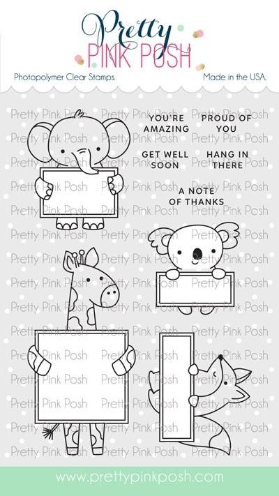 Pretty Pink Posh Animal Signs Stamp Set
