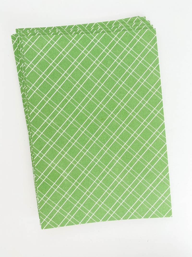 Patterned Note Card - Apple Green