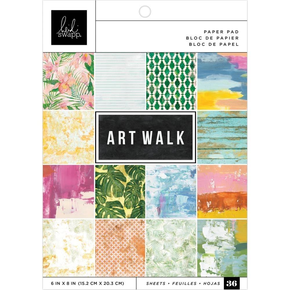 """Heidi Swapp Single-Sided Paper Pad 6""""X8"""" Art Walk"""