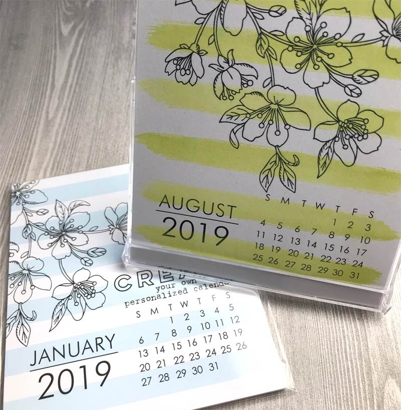 Large Impress 2019 DIY Calendar